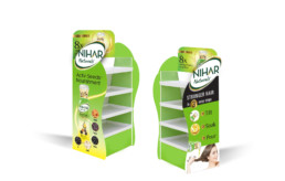 almond-branding-top-packaging-design-agency-mumbai-Marico-Nihar-Naturals-Extra-Care-POSM-Retail-Visibility